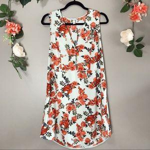A new day | Floral v-neck tank dress